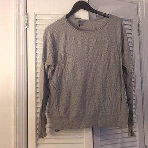 Grey drop sleeve cotton sweater
